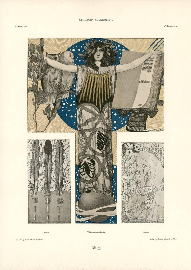 after Carl Otto Czeschka, (1878-1960), Austrian   A leading member of the Vienna Secession and later the Wiener Werkstätte (Viennese Workshop), Carl Otto Czeschka was a vital figure in promoting the idea of Gesamtkunstwerk (total art concept).