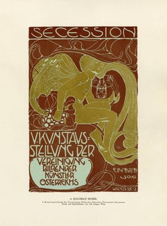 """Ottokar Mascha Folio: plate 11 """"5th Secession Exhibition Poster"""" by Kolo Moser"""
