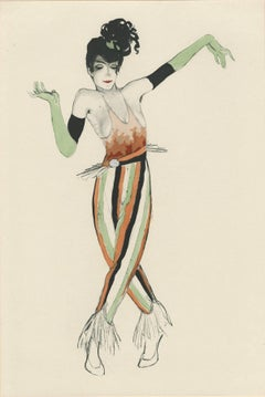 """Ballet und Pantomime """"Scherzo II"""", plate #15."""