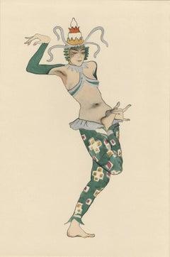 "Ballet und Pantomime ""Bingha"", plate #8."