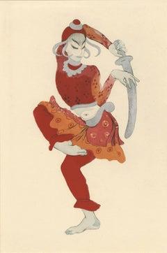 """Ballet und Pantomime """"Der tanzende Gott"""" (The Dancing God), plate #14."""