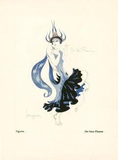 """Kostume, Plakate, und Dekorationen, """"The Blue Flame"""""""