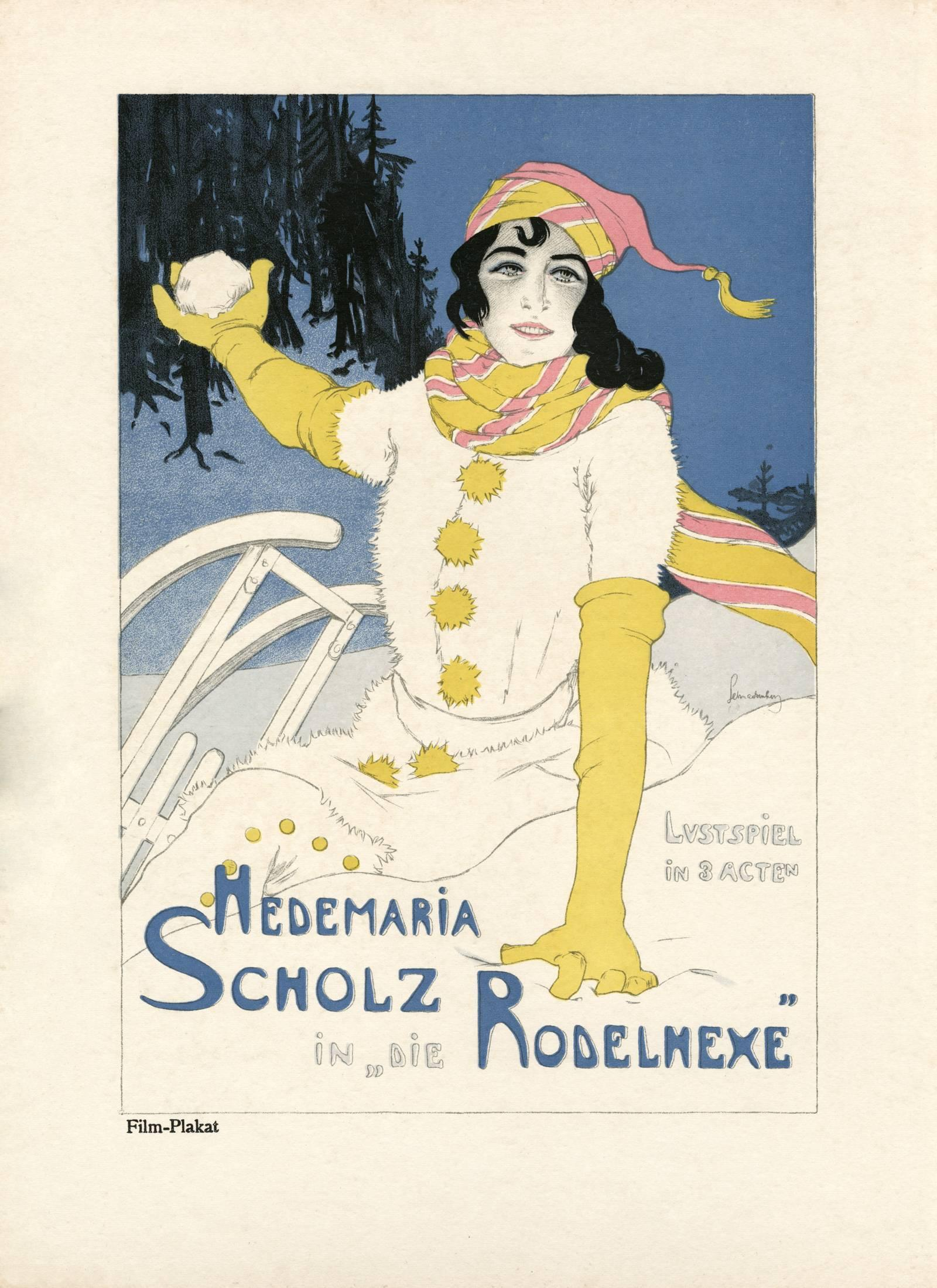 """Kostume, Plakate, und Dekorationen, """"Die Rodelhexe"""""""