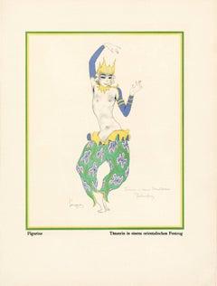 """Kostume, Plakate, und Dekorationen, """"Dancer in an Oriental Pageant"""""""