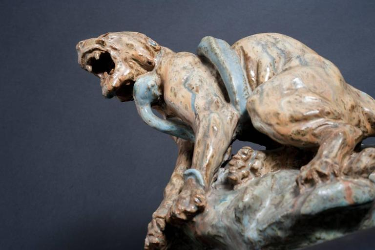 Best known as a sculptor of anamalia, Ecole des Beaux-Arts-trained Thomas Francois Cartier concentrated on hunting dogs and creatures of the wild. His depictions of big cats, in particular, are powerful psychological renderings equal to their