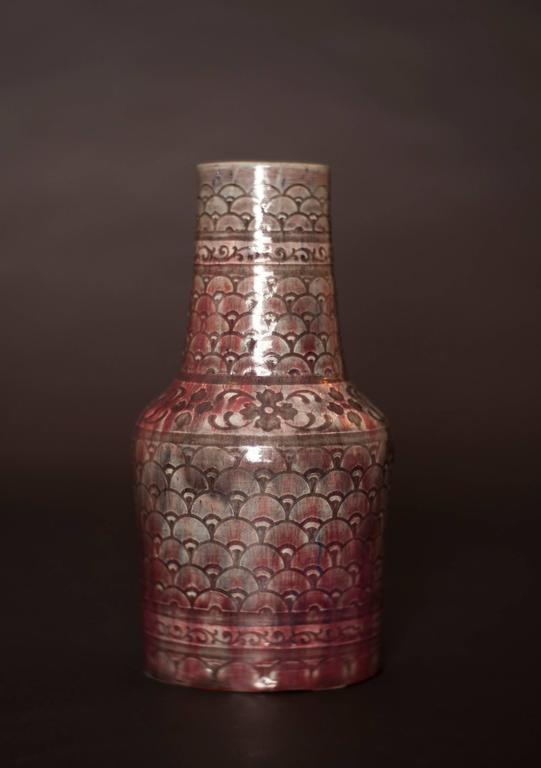 Shell Pattern Vase - Art by Auguste Delaherche