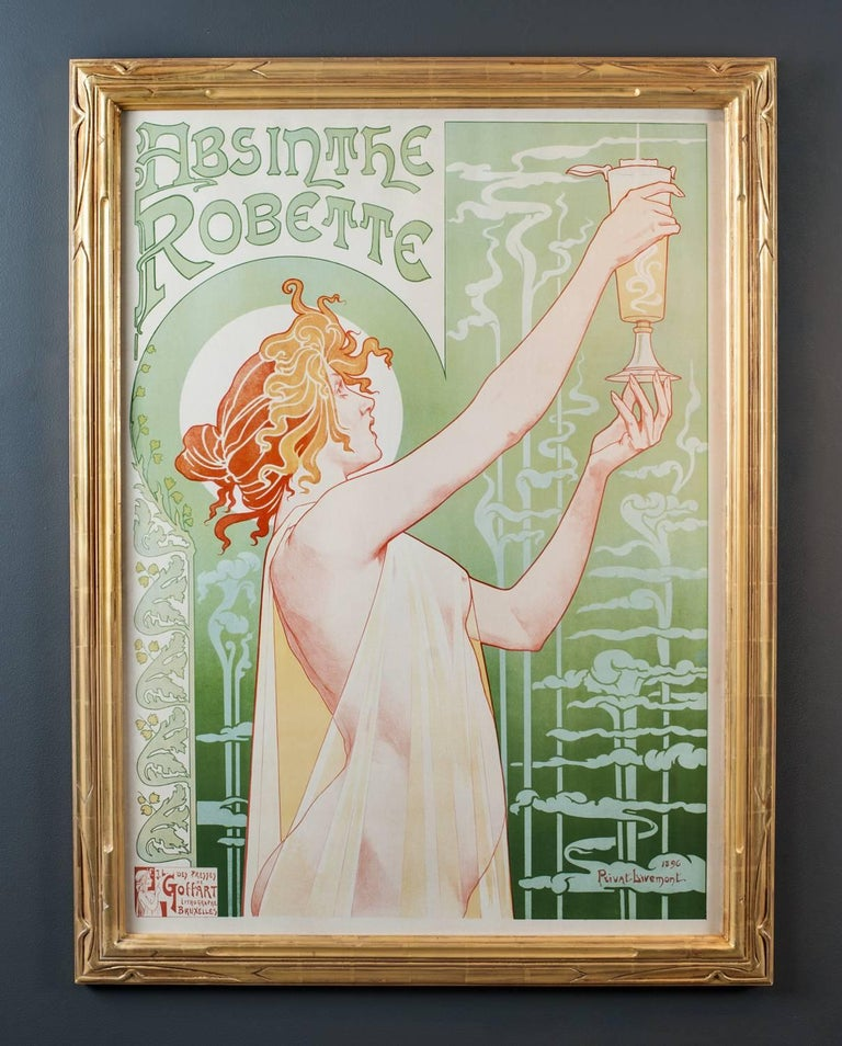 ABSINTHE ROBETTE, Framed Color Lithograph, 1896.