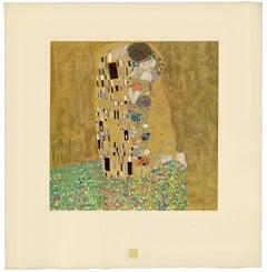 """Gustav Klimt & k.k. Hof-und Staatsdruckerei - H.O. Miethke Das Werk folio """"The Kiss"""" collotype print"""