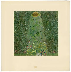 "H.O. Miethke Das Werk folio ""Sunflower"" collotype print"