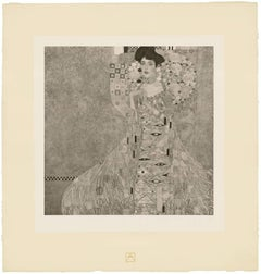 """H.O. Miethke Das Werk folio """"Portrait of Adele Bloch-Bauer"""" collotype print"""