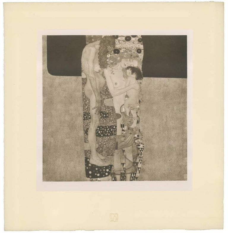 "Gustav Klimt & K.K. Hof-und Staatsdruckerei Figurative Print - H.O. Miethke Das Werk folio ""The Three Ages of Woman"" collotype print"