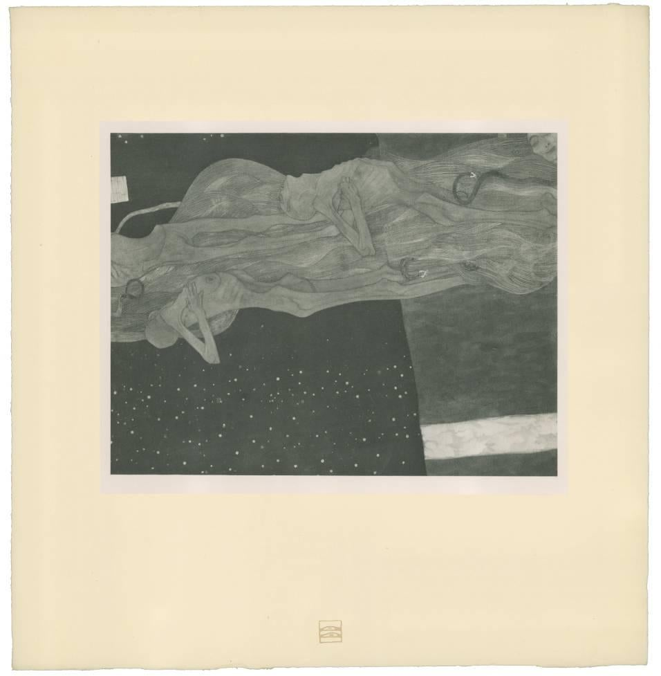 "H.O. Miethke Das Werk folio ""Train of the Dead"" collotype print"