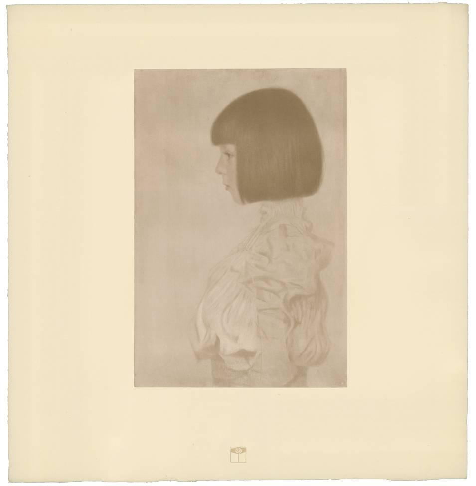 "H.O. Miethke Das Werk folio ""Portrait of Helene Klimt"" collotype print"