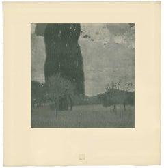 "H.O. Miethke Das Werk folio ""The Great Poplar I"" collotype print"