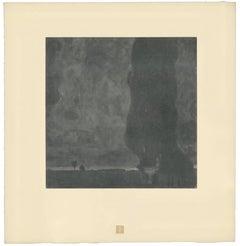 "H.O. Miethke Das Werk folio ""The Great Poplar II (Thunderstorm)"" collotype print"