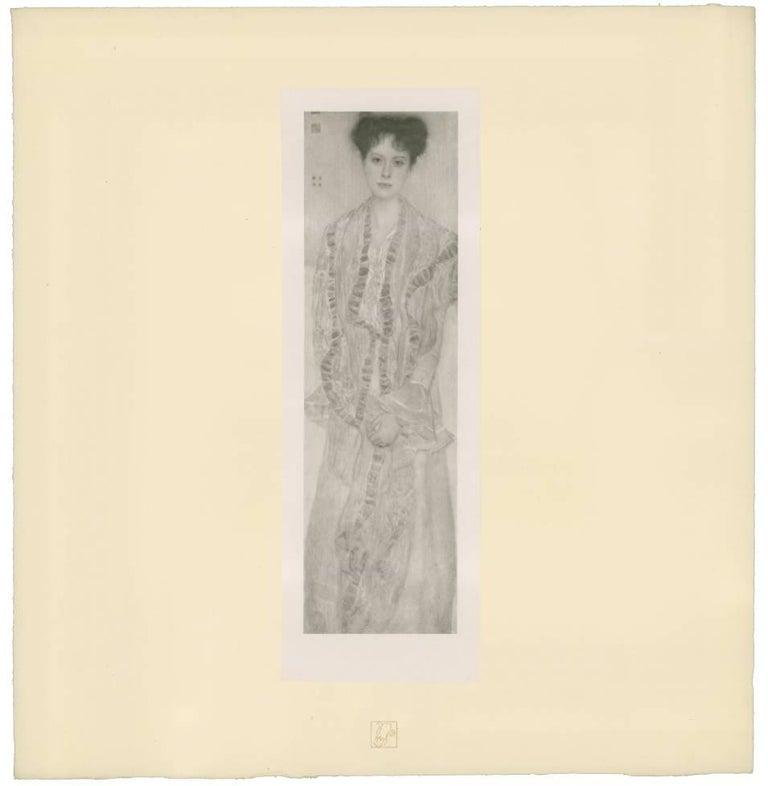 "H.O. Miethke Das Werk folio ""Portrait of Gertha Felsövanyi "" collotype print"