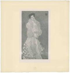 "H.O. Miethke Das Werk folio ""Portrait of Hermine Gallia"" collotype print"