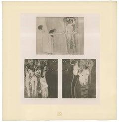 """H.O. Miethke Das Werk folio """"Beethovan Frieze 1 & 2"""" set of collotype prints"""