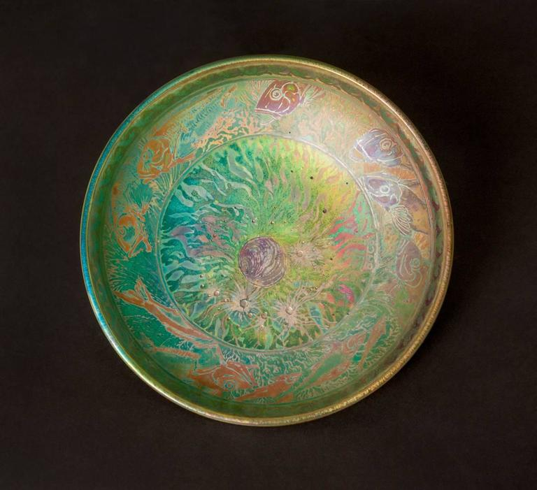 Iridescent Ocean Bowl - Art by Jean Barol