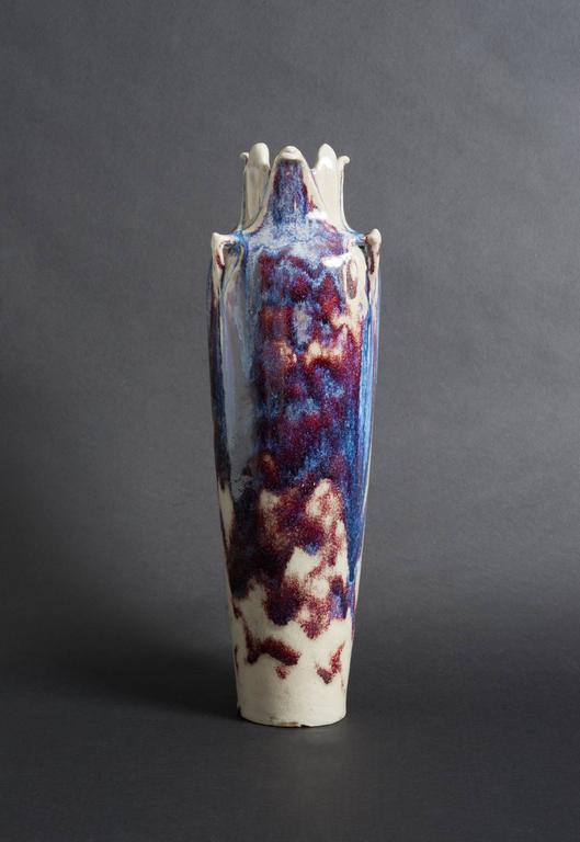 Flambé-Glazed Vase
