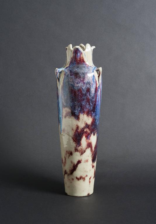 Flambé-Glazed Vase - Art Nouveau Art by Edmond Lachenal