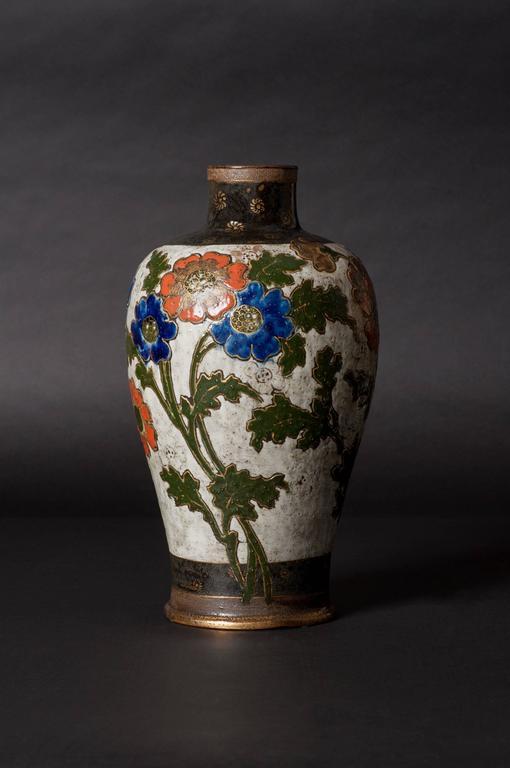 Poppy Vase - Art Nouveau Art by Ernest Chaplet & Edouard Dammousse
