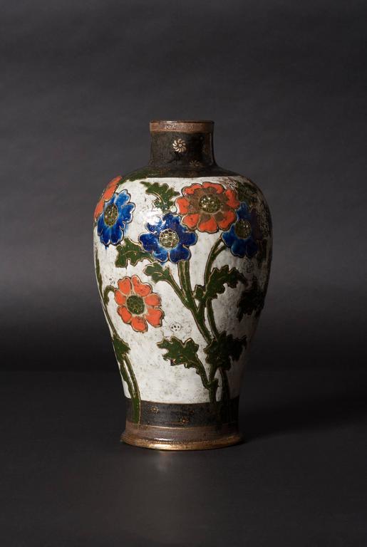 Poppy Vase - Art by Ernest Chaplet & Edouard Dammousse