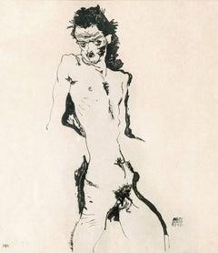 """Sema portfolio, 1912, """"Male Nude I"""" Lithograph print 21/215"""