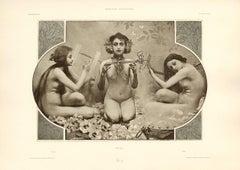 """Gerlach's Allegorien Plate #37: """"Music"""" Lithograph"""
