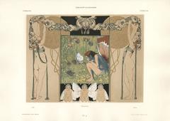 """Gerlach's Allegorien Plate #51: """"Summer"""" Lithograph"""