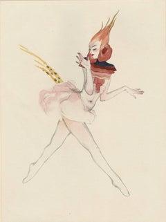 """Ballet und Pantomime """"Der Paradiesvogel"""" (Bird of Paradise) plate #1."""