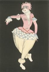 """Ballet und Pantomime """"Puderquaste"""" (Powder Puff), plate #16."""