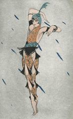 """Ballet und Pantomime """"Orientalische Tänzerin"""" (Oriental Dancer), plate #18."""