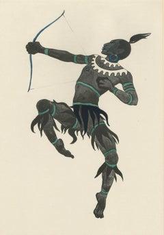 """Ballet und Pantomime """"Der Vogelfanger"""" (The Bird Catcher), plate #19."""