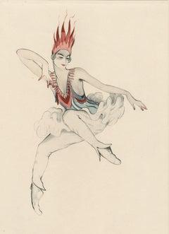 """Ballet und Pantomime """"Groteske"""", plate #22."""