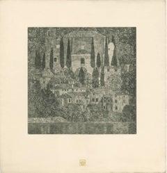 "H.O. Miethke Das Werk folio ""Church in Cassone"" collotype print"