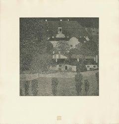 "H.O. Miethke Das Werk folio ""Schloss Kammer on Lake Attarsee II"" collotype print"