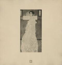 """Max Eisler Eine Nachlese folio """"Portrait of Baroness Wittgenstein"""" collotype"""