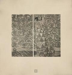 """Max Eisler Eine Nachlese folio """"Studies for the Frieze at Palais"""" 4 collotypes"""