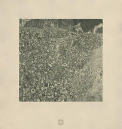 """Max Eisler Eine Nachlese folio """"Italian Garden Landscape"""" collotype"""