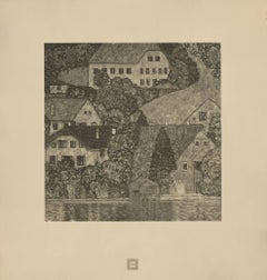 "Max Eisler Eine Nachlese folio ""Houses in Unterach on Lake Attersee"" collotype"