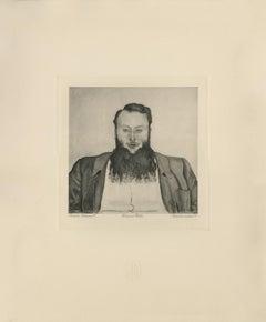 """Portrait of Sculptor James Vibert"" Copper Plate Heliogravure"