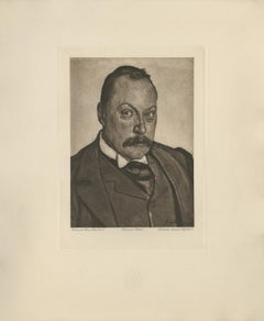 """Portrait of Prof. Dr. Hermann Sahli"" Copper Plate Heliogravure"