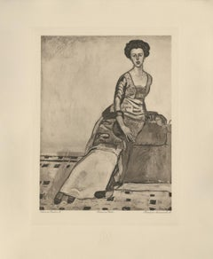 """Portrait of Mrs. Gertrude Miller"" Copper Plate Heliogravure"