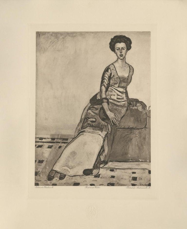 Portrait Of Mrs Gertrude Miller Copper Plate Heliogravure