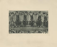 """The Holy Hour with Six Figures"" Copper Plate Heliogravure"