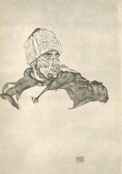 """R. Layni, Zeichnungen folio, """"Russian Soldier"""" Collotype plate VII"""