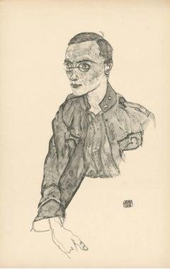 """R. Layni, Zeichnungen folio, """"One-Year-Volunteer Private"""" Collotype plate V"""