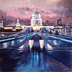 David Farren -  Lights at Millennium Bridge, St Pauls