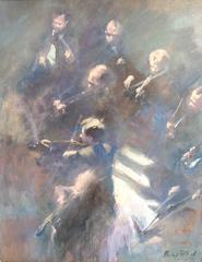 Orchestra String Selection abstract figurative oil painting